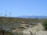 Snow hits the mtns above Yucca Valley