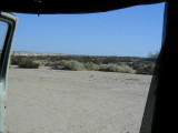 Door view . . . mud flats south of San Felipe