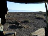 Door view of our beach camp