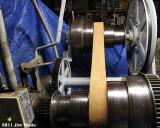 Five belt speeds + back gear