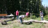 Taking down camp