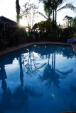 Pleasant Evening by the Pool
