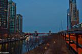 Nightfall, Chicago River