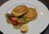 1 May 2011 - Whitebait fritters and salad