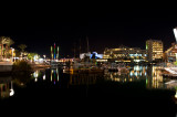 Eilat harbour at night