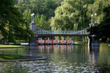 The Public Garden Bridge and Swanboats