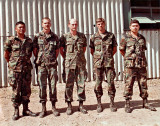 B Co. 2/505 NCO leadership team Grenada
