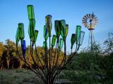 Texas Colored Glass Garden