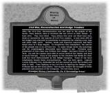 Marker - Civil War, Reconstruction And Dodge Troubles