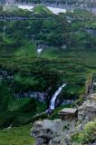 Waterfalls below Logan Pass