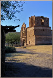 Tumacacori Mission in the late sunlight