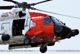 2011 - Coast Guard MH-60J #CG-6023 on a port and harbor patrol just south of downtown Tampa aviation stock photo