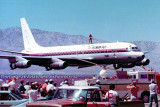 1976 - Rick Rojatt and The Human Fly act on top of American Jet Industries ex-JAL DC-8
