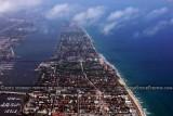2012 - Palm Beach aerial landscape stock photo