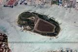 2012 - Palm Beach (left bottom), Port of Palm Beach (top) and Peanut Island landscape aerial stock photo