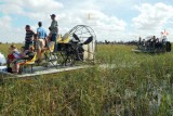 35th Anniversary of Eastern Airlines flight 401 crash memorial service - airboats arriving at the crash site, photo #2895