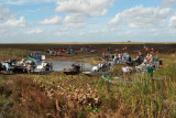 35th Anniversary of Eastern Airlines flight 401 crash memorial service - airboats returning from crash site, photo #2933