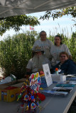 Volunteers Linda, Glenn, Jay and Jane at the Challenge tent at Piney Point