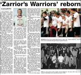 Zorriors Warriors in the Sidney Paper 1-22-2008
