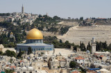 Jerusalem, Dome of the Rock and Mount of Olives cemetery