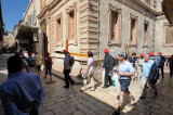 Christian pilgrims in the Old City of Jerusalem