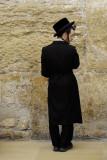 Jewish Haredi youth at Western Wall