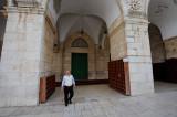 Man at Al Aqsa mosque entrance