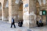 Muslim men near Ablution Gate, Temple Mount, Jerusalem