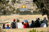 Looking at Jerusalem and Dome of the Rock