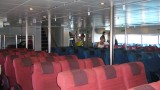 the organized seats in the ferry