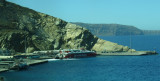 Aboard the bus; on the way up to Thira