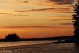 Sunset Along Golden Road