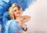Miss Amarettease burlesque dancer