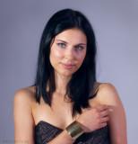 model Ania Kondracka,  cult fashion designer Dee Izmail - London