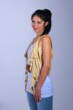 Model Ania with wardrobe by cult fashion designer Dee Izmail - London