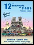 Twelfth crossing of Paris in ancient cars