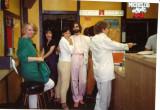 L-R: Helen Oppenheim., unknown, Miwa, Avram, Edward Moore, LA, 80