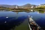 Ganden Sumtseling Monastery 寺前湖景