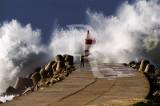 O Molhe da Nazaré em 25 de janeiro de 2009