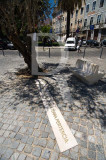 The ashes of Portugal's Nobel literature prize winner José Saramago rest under this olive tree