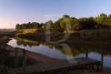 A Lagoa de Óbidos em 9 de agosto de 2011