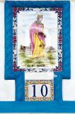Rainha Santa Isabel, em azulejo popular