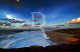 A Praia do Norte em 14 de janeiro de 2006