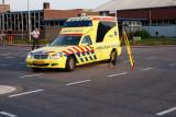 Ambulance op weg naar Trauma Helicopter