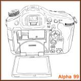 Sony SLT A99 back layout