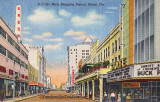 1941 - looking west on Flagler Street, downtown Miami
