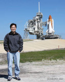 March 2011 - Ben Wang and the Space Shuttle Endeavor at Launch Pad 39A at Cape Canaveral