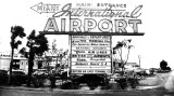 1950 - the main entrance sign to the 36th Street Terminal at Miami International Airport