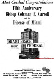 1964 - ad for Miami Beach Federal Savings & Loan Association with five locations in Dade County