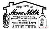 1964 - ad for Home Milk, Miami